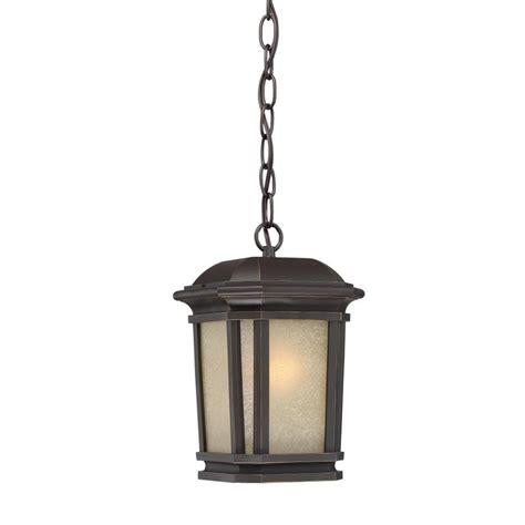 Quoizel Outdoor Lighting Shop Quoizel Corrigan 11 In Bronze Outdoor Pendant Light At Lowes