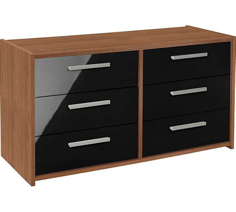 Sywell Bedroom Furniture Buy Home New Sywell 3 3 Drawer Chest Walnut Effect Black Gloss At Argos Co Uk Your