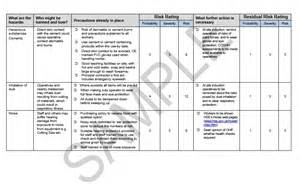 risk statement template risk assessment method statement for fencing seguro