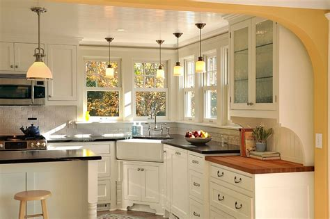light over kitchen sink window corner plans breakfast nook kitchen corner decorating ideas tips space saving solutions