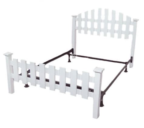 picket fence bed frame hometown size picket fence bed w frame qvc