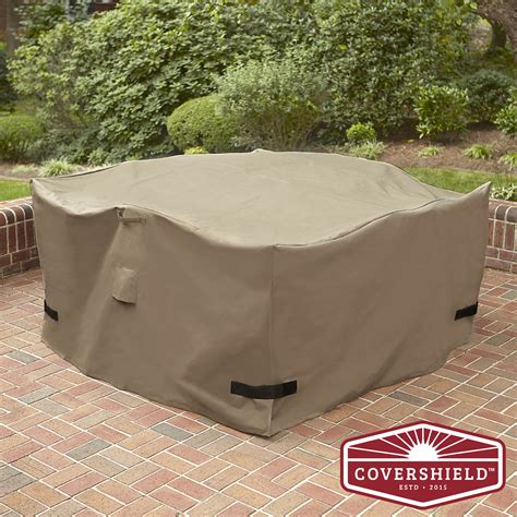 square patio furniture cover covershield square dining set cover premium 5 outdoor living patio furniture