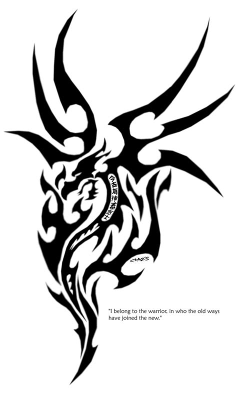 free tribal dragon tattoo designs 1000 geometric
