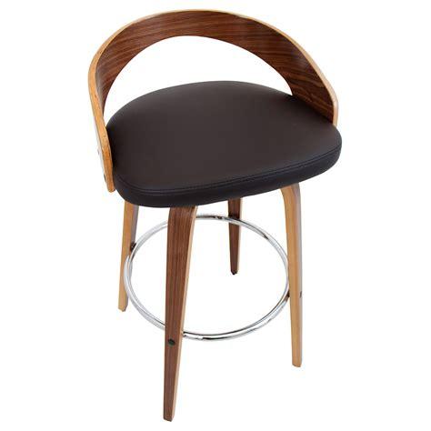 bar stool top grove modern walnut brown bar stool eurway modern