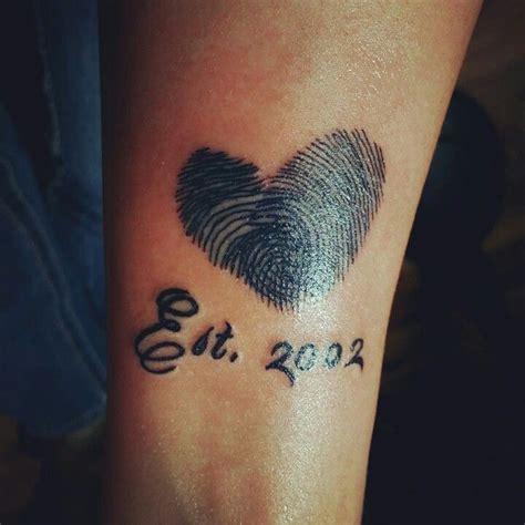 tattoo of us thumbprint mine daniels thumb print tattoo my style pinterest