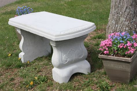 concrete patio benches concrete vineyard bench w straight seat site furnishings
