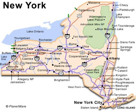 map of state of new york new york travel guide planetware