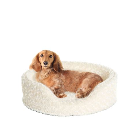 dog bed r furhaven nap pet bed ultra plush oval lounger dog or cat