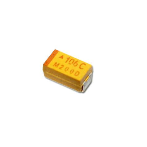 10uf 16v tantalum capacitor tajc106j016r avx capacitor 10uf 16v tantalum surface mount 2020000539