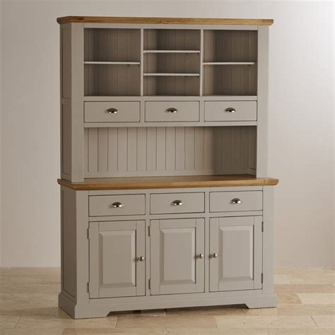 grey dresser st ives large grey dresser with brushed oak top