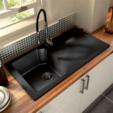Black Stainless Steel Kitchen Sink Thinking Of Switching Out The Stainless Steel Kitchen Sink For Black To Match The Rest Of The