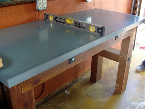concrete countertop   workbench  tos diy