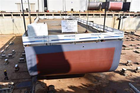 ship keel fincantieri lays keel for viking spirit cruise industry