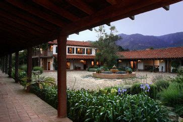 adobe courtyard mediterranean exterior santa barbara tom meaney architect aia