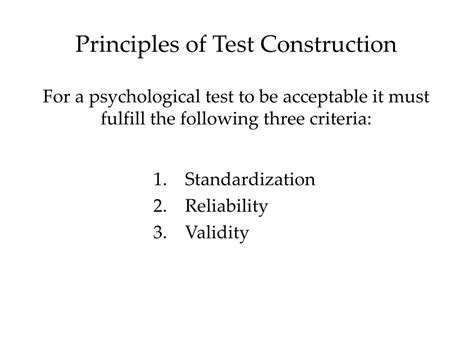 principles of design quiz powerpoint ppt principles of test construction powerpoint