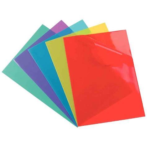 pochette bureau pochette coin pvc a4 couleurs assorties boite de 100