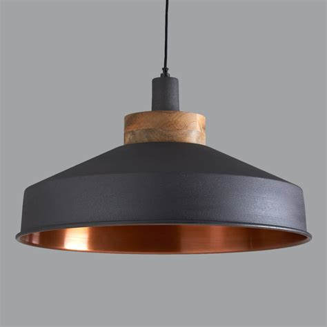 cosmos graphite and copper pendant light graphite