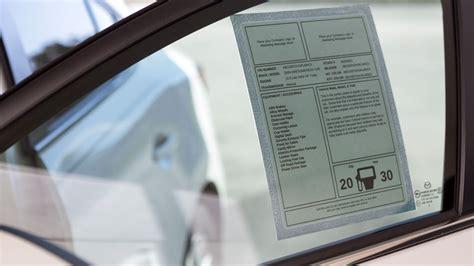 used car window sticker template automobile dealer window stickers onlinelabels