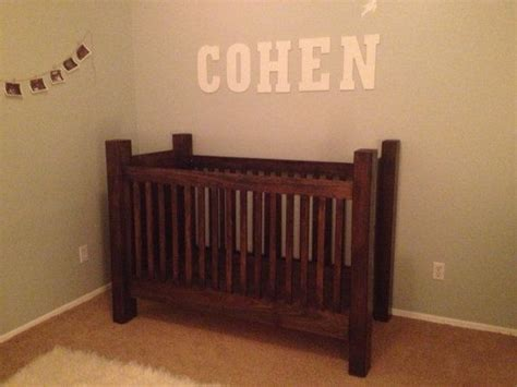 Handmade Wooden Crib - handcrafted rustic wood baby crib by rusticbabycribs on