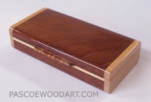 Decorative Pill Boxes Handmade Small Wood Box Made Of Sapele Maple