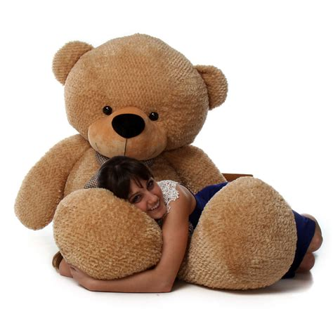 big teddy shaggy cuddles 72 quot size plush teddy the