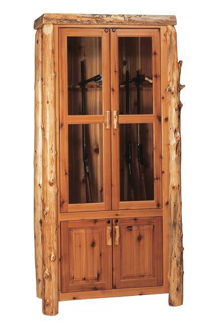 Cedar Gun Cabinet by Cedar Log Gun Cabinet