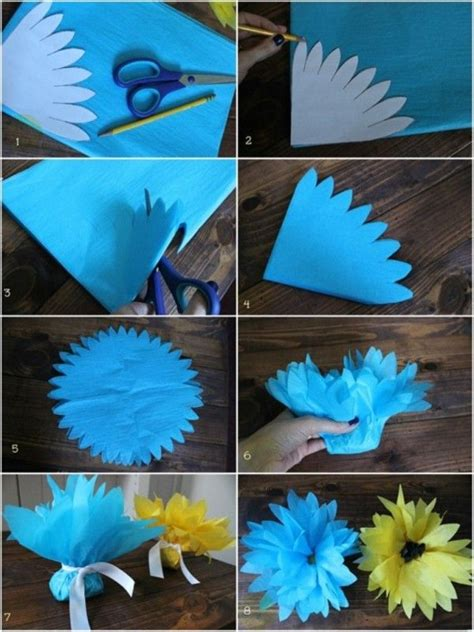 Learn To Make Paper Flowers - 149 best images about craft ideas on