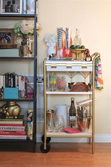 ikea hacks bar diy ikea bar cart hack