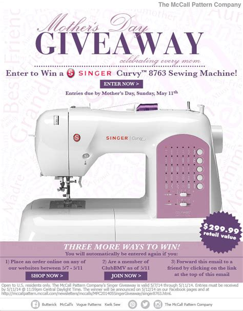 singer sewing machine giveaway knitty gritty savings - Sewing Giveaway