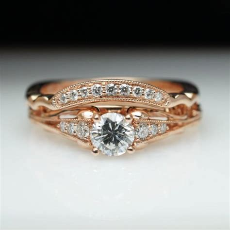 vintage antique style engagement ring matching