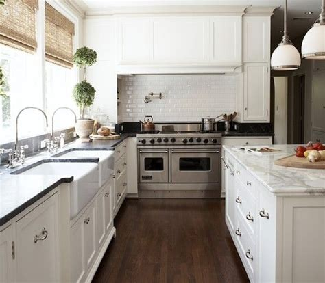 marble double island kitchen for the home pinterest white cabinetry windows walnut floor and marble and