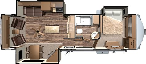 5th wheel trailer floor plans 2016 mesa ridge fifth wheels by highland ridge rv
