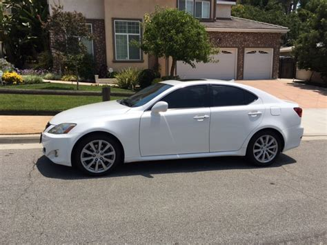 white lexus is 250 2008 ca fs 2008 lexus is250 pearl white in southern california