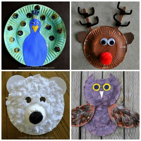 Paper Animal Crafts - 20 paper plate animal crafts for i crafty things