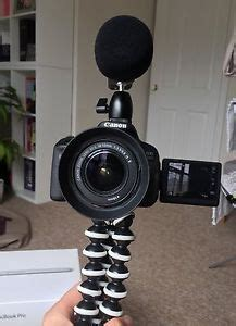 canon eos 700d ef s 18 55 & zoom h1 microphone perfect