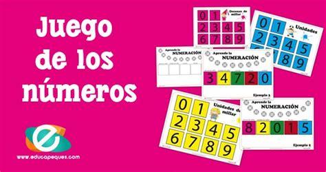 aprender los n 250 meros con el juego de la numeraci 243 n