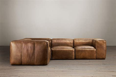restoration hardware sectional sofa leather sofa