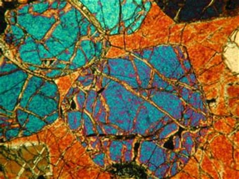 dunite thin section olivine