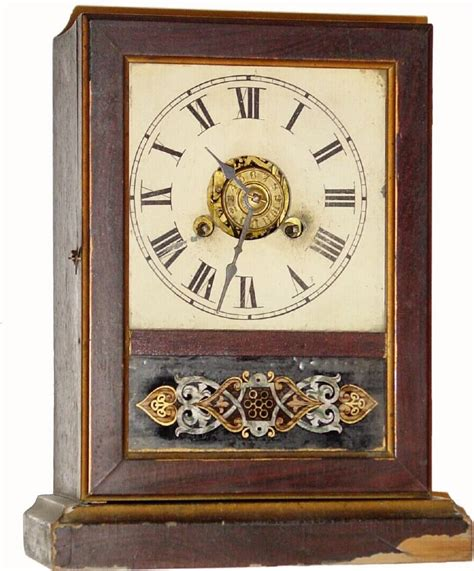 Cottage Clocks by German Or Germany Shelf Cottage Antique Clock