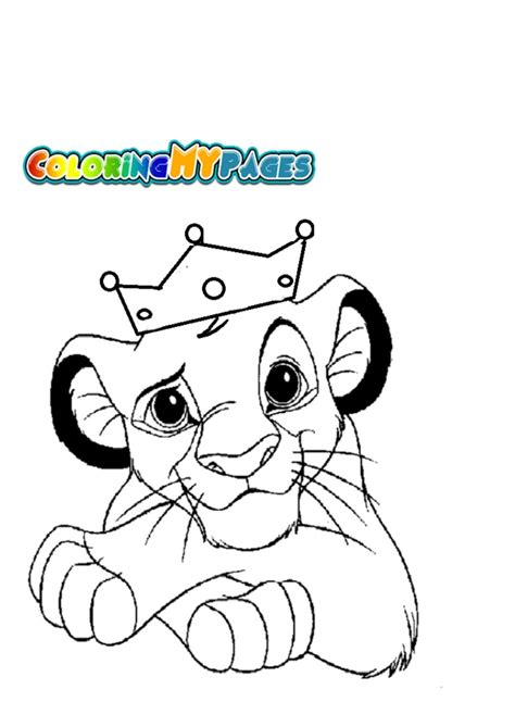 imagenes de leones para colorear rey corona colouring pages