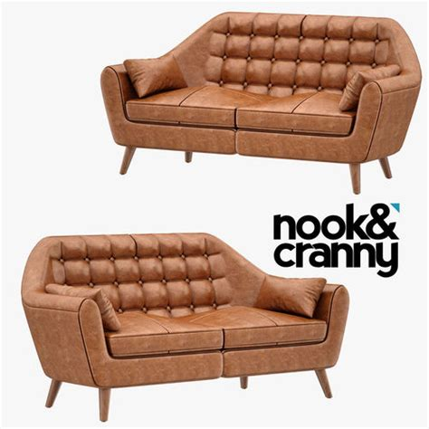 nook sofa nook and cranny julius sofa 001 3d cgtrader