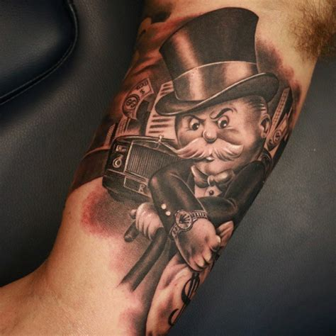 monopoly man tattoo city tattoos todays work mr monopoly sirfocus