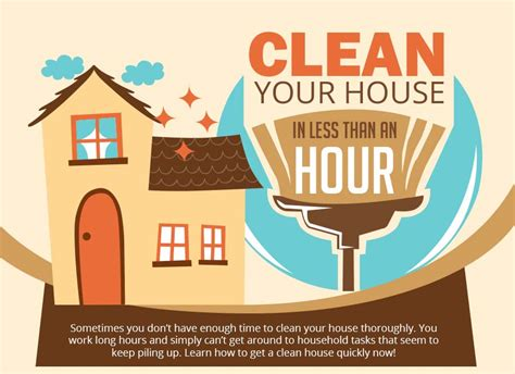 clean your house cleaning your home in less than an hour infographic