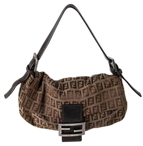 fendi brown canvasleather vintage signature monogram