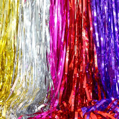 foil decorations shimmering foil curtain decoration by setter