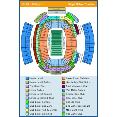 ralph wilson seating chart ralph wilson stadium tickets