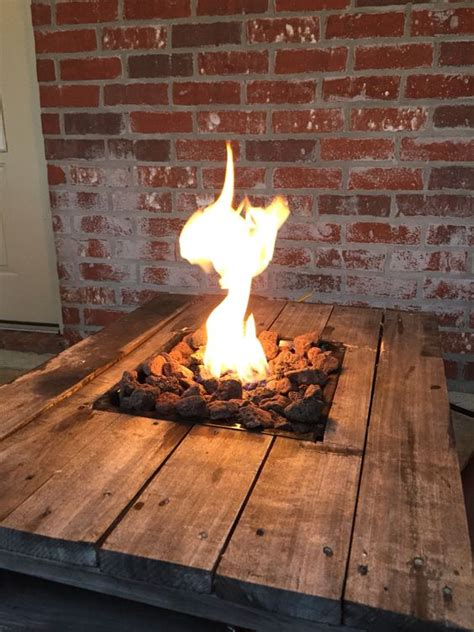 gas firepit tables gas pit built into a pallet table pallet projects