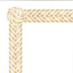 furniture stencils braided border amp knot royal design