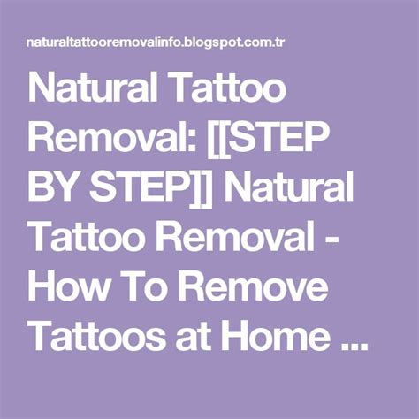 best 25 natural tattoo removal ideas on pinterest