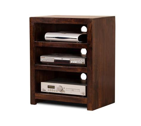 Low Bookcases Uk Dark Stained Solid Mango Wood Hi Fi Shelving Unit